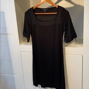 Banana Republic black tee shirt dress